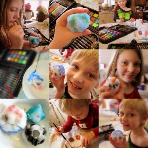 Watercolor snowballs - A Magical Childhood