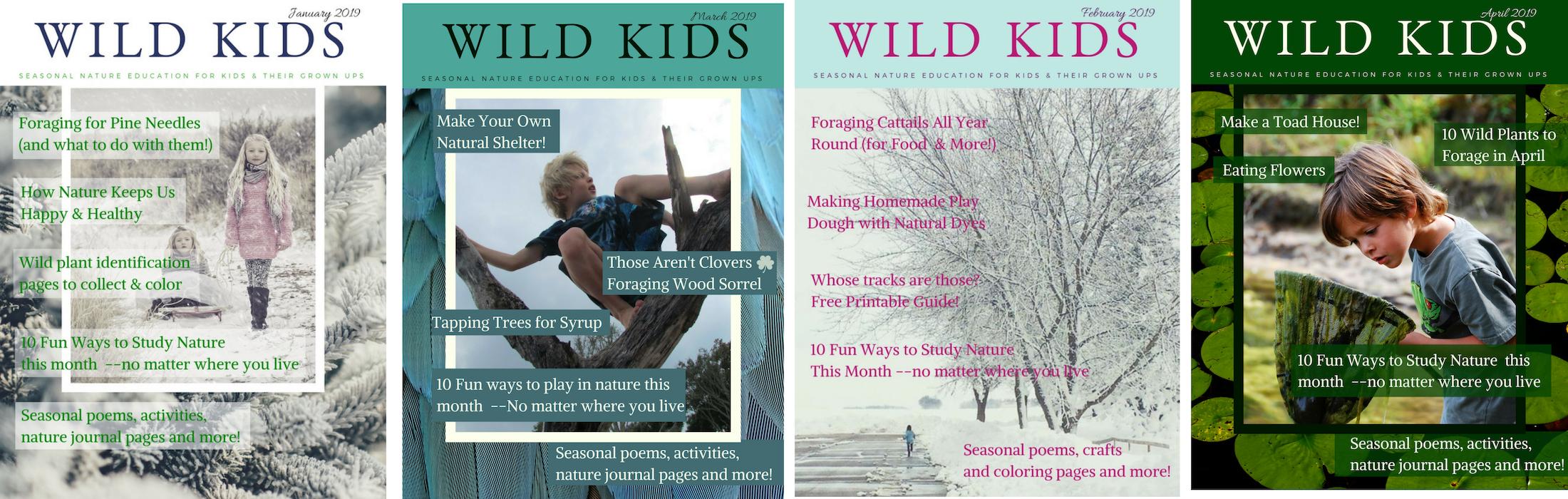 wild kids collage